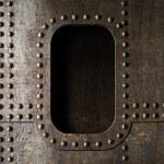 Old metal porthole background — Stock Photo