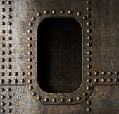 Old metal porthole background — Stock Photo
