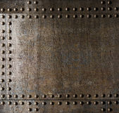 Metal background with rivets — Stock Photo