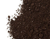 Soil or dirt crop isolated on white background — Stock Photo