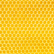 Honey in honeycomb background — Stockfoto