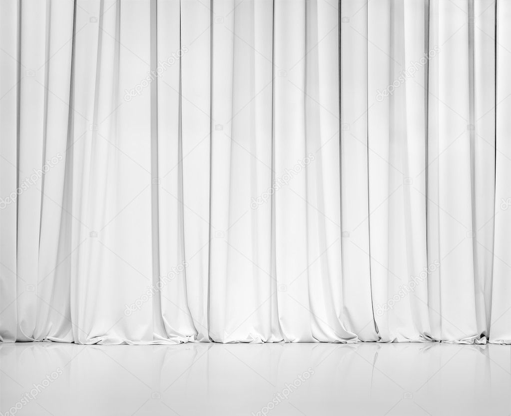 White curtain or drapes background stock photo andrey for Cortinas blancas para salon