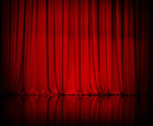 Curtain or drapes red background — Stock Photo