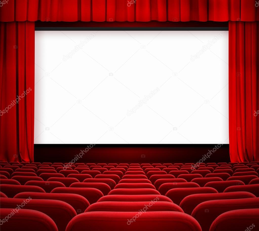 cran de cin ma avec rideau ouvert et si ges rouges photographie andrey kuzmin 36312467. Black Bedroom Furniture Sets. Home Design Ideas