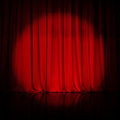 Curtain or drapes red background — ストック写真