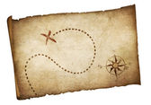 Pirates old treasure map isolated — Stock Photo