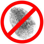 No fingerprint or finger print forbidden sign — Stock Photo