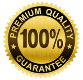 Premium quality, guaranteed gold seal medal with clipping path — Stock Photo