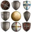 Shields collection isolated on white — Stock Photo