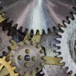 Clock mechanism gears and cogs macro — Stock Photo #39293071