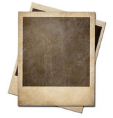 Grunge instant photo polaroid frames isolated. Clipping path wit — Stock Photo