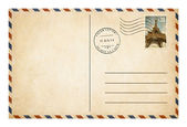Old style postcard or envelope with postage stamp isolated — Stock Photo