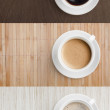 Coffee on wooden table top view set — Stock Photo #44438179