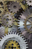 Clock gears and cogs background — Stock Photo