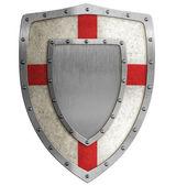 Medieval crusader shield illustration — Stock Photo