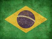 Grunge flag of Brazil — Stock Photo