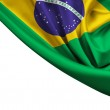 Flag of Brazil crop isolated on white — Stock Photo #47158331