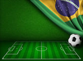 Soccer world cup in Brazil concept background  — Stock Photo