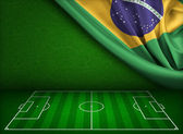 Soccer world cup in Brazil concept — Stock Photo