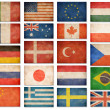 Grunge flags: USA, Great Britain, Italy, France, Denmark, German — Stock Photo #47295519