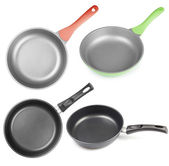 Frying pans os skillets set isolated — Stock Photo