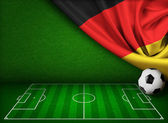 Soccer or football background with flag of Germany — Stock Photo