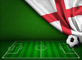 Soccer or football background with flag of England — Stock Photo