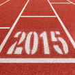 New year 2015 diggits on sport track. Good start, growing busine — Stock Photo #48670395