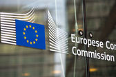 European commission official building entry — Stock Photo