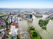 Dusseldorf city in Germany aerial view — Stock Photo