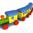 Wood toy train — Stock Photo #2895957