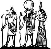 Anubis en horus — Stockvector