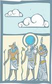 Hieroglyph Clouds — Stock Vector
