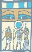 Hieroglyph Eyes — Stock Vector