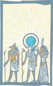 Hieroglyfů sluneční paprsky — Stock vektor