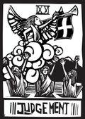 Oordeel tarot — Stockvector
