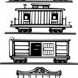Stock Vector: Train Car Collection