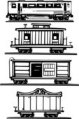 Train Car Collection — Stock Vector