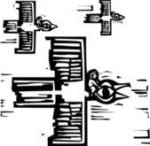 Езда орлы — Cтоковый вектор