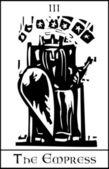 Empress Tarot Card — Stock Vector