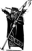 Norse God Odin — Stock Vector
