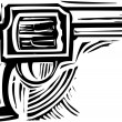 Woodcut Pistol — Vetorial Stock #24492313