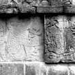 Chichen Itza Mayan Glyphs jaguar — Stock Photo
