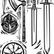 Stock Vector: Viking Weapons