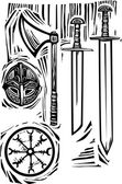 Viking Weapons — Stock Vector