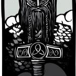 Постер, плакат: Thor and Mjolnir