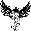 Astronaut Angel — Stock Vector