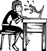 Juego en línea — Vector de stock