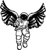 Astronaut Angel — Stock Vector