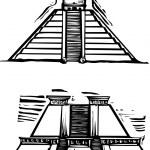 Mayan Pyramids — Stock Vector